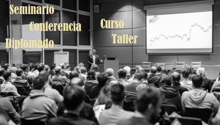 Diferencia entre seminario, conferencia, taller, curso y diplomado