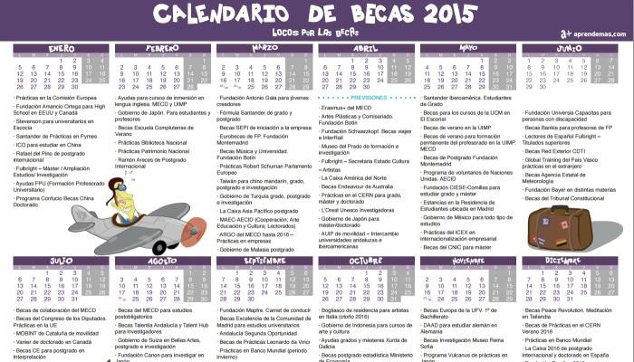 Calendario de Becas 2015