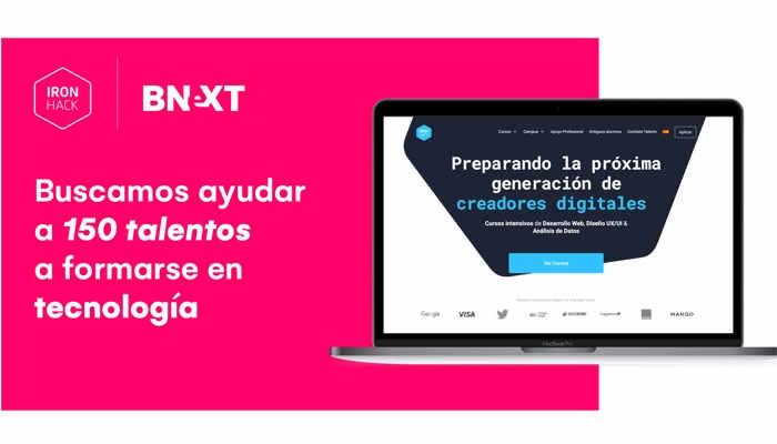 Ironhack y Bnext ofrecen a 150 creadores digitales la oportunidad de desarrollar su talento