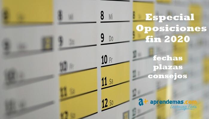 Especial Oposiciones: plazas de empleo público para terminar 2020